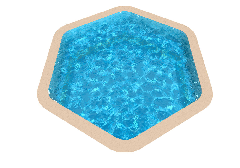 Liner piscine hors sol for Liner pour piscine hexagonale